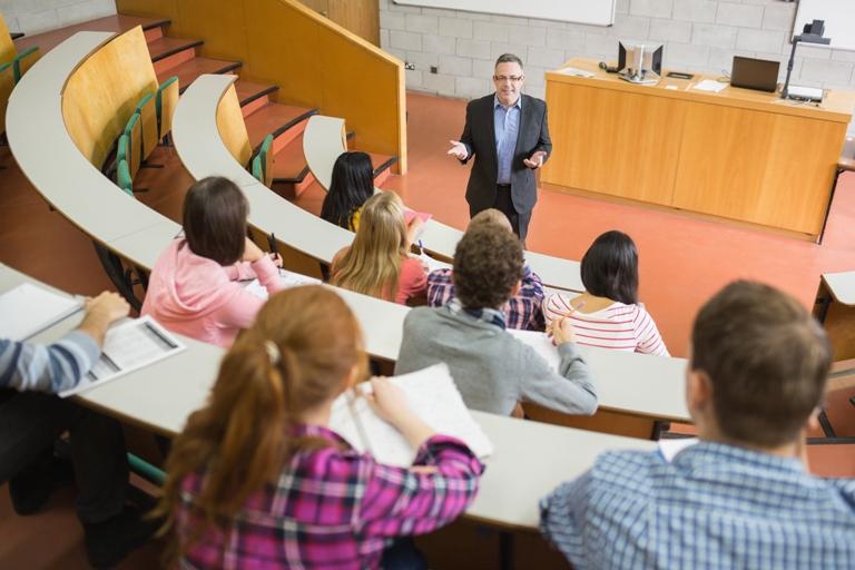 Professor Universität Hörsaal Studenten Vorlesung