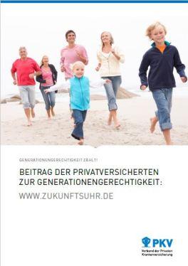 Beitrag Broschüre PKV Generatinssicherheit Infos PDF