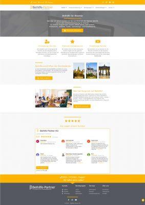 Beihilfe-Partner AG neue Homepage Website 2020 Screenshot