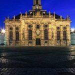 Beihilfe Saarland Saarbrücken nachts erleuchtet